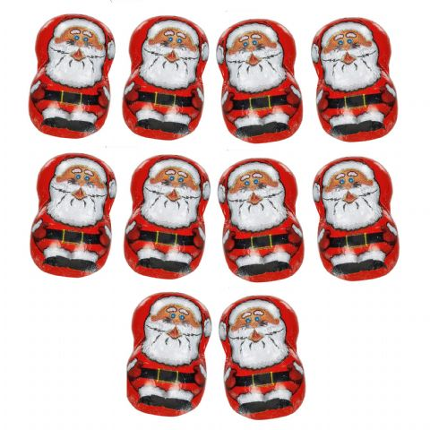Luxury Christmas Santa Figures - Milk Chocolate Gianduja Cream La Suissa Italian Gift Bag 100g